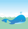 big blue whale vector image