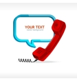Phone receiver vector image vector image
