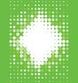 halftone pattern greenery vector image