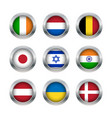 Flag buttons set 2 vector image vector image