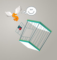 escape from a cage vector image vector image