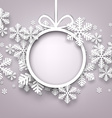 Christmas background with round copyspace vector image