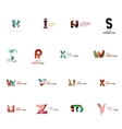 Set of colorful abstract letter corporate logos vector image