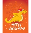 christmas dragon vector image
