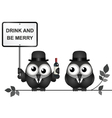 Drink and be merry vector image vector image