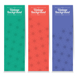 Set Of Three Oriental Style Vertical Banners vector image vector image