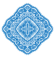 blue detailed mandala vector image