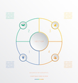 Circle from 4 coloured lines vector image