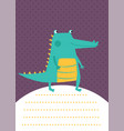 crocodile card vector image