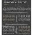 dark infographics vector image