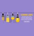 economic lamps banner horizontal concept vector image