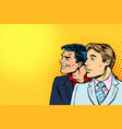 face of two men in profile vector image
