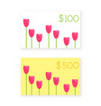 flat style gift card template vector image