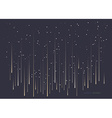Meteor shower vector image