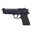 pistol gun automatic modern handgun vector image