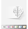 realistic design element chandelier vector image