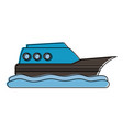 Ship on water sideview icon image vector image