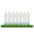White fence vector image