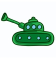 military tank design cartoon kids vector image