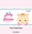 Baby shower card - baby arrival card vector image vector image