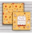 Vintage Christmas greeting card vector image vector image
