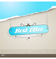 Vintage background with place for your text vector image vector image
