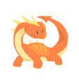 orange dragon mythical and fantastic animal vector image