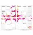 Brochure backgrounds vector image vector image