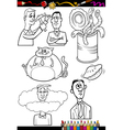 cartoon sayings set for coloring book vector image vector image