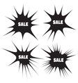 Set of Grunge Cloud Explosions blast or bomb bang vector image