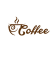 concept of coffee cup vector image