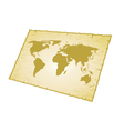 world map old vector image vector image
