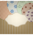 lacy napkin vector image vector image