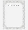 Vertical certificate template vector image vector image
