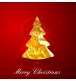 Holiday of a golden metallic foil Christmas vector image