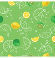 Lemon and lime lemonade green seamless pattern vector image