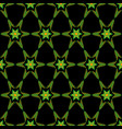 seamless geometric orange-green pattern with stars vector image
