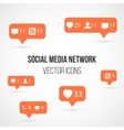 Set of Social Media Network Icons Include vector image