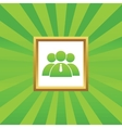 User group picture icon vector image