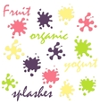 Yogurt splashes set vector image