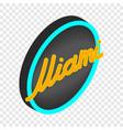 neon sign miami isometric icon vector image