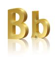 Golden letter B vector image