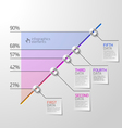 Business diagram infographics element vector image vector image