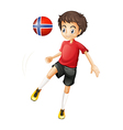 A soccer player from Norway vector image vector image