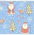 Santa Claus seamless pattern vector image