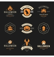 Set Vintage Happy Halloween Badges and Labels vector image
