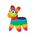 Colorful donkey icon cartoon style vector image