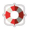 cartoon life buoy marine symbol vector image