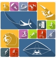 Extreme sports icons flat vector image