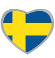 Isolated Swedish flag vector image